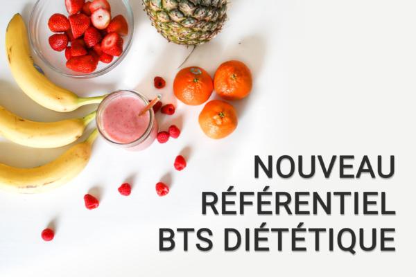 Nouveau referentiel BTS dietetique 2019 aux cours diderot